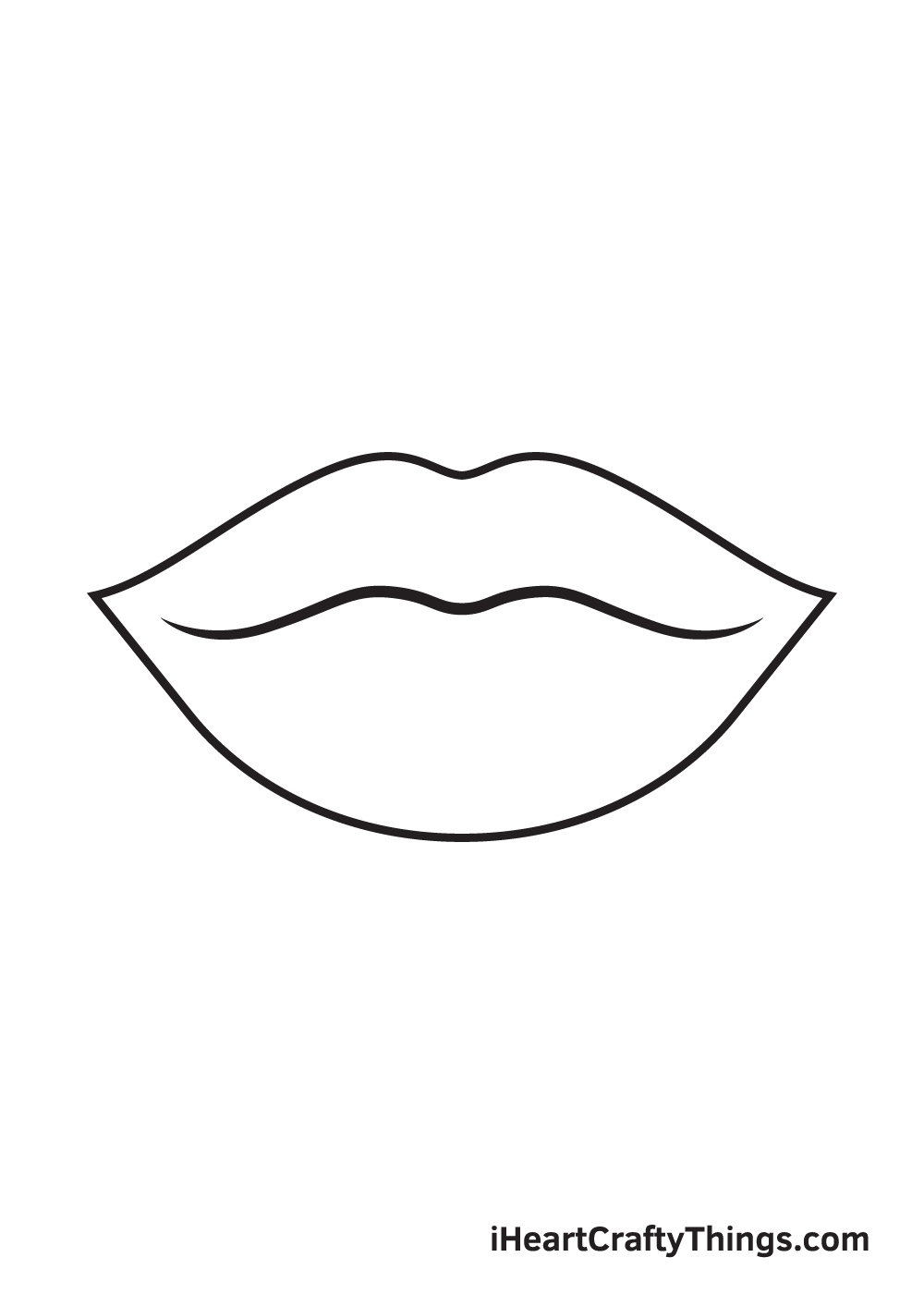 lips drawing step 5