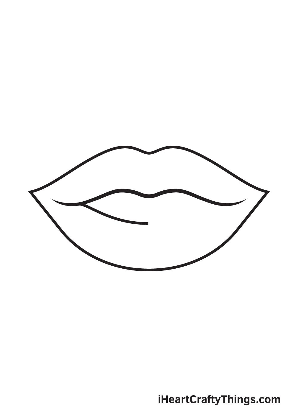 lips drawing step 6