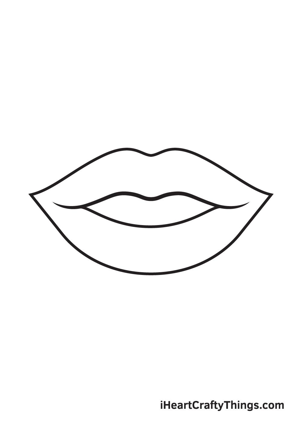 lips drawing step 7
