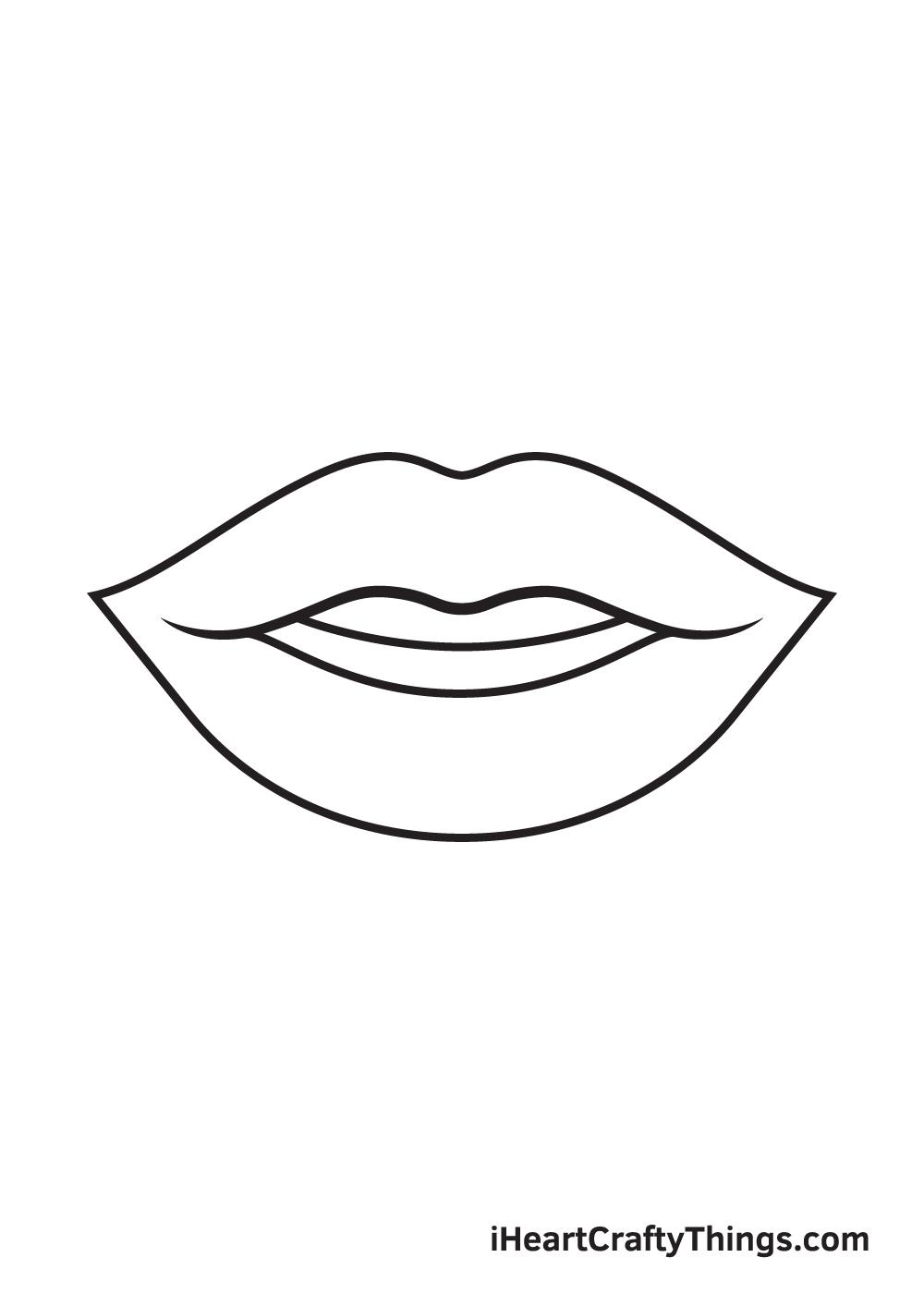 lips drawing step 8