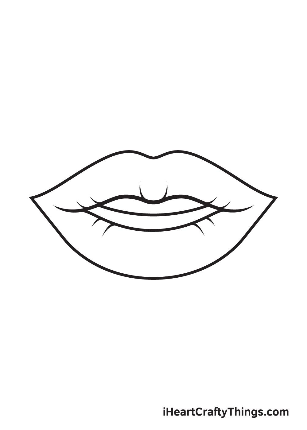 lips drawing step 9