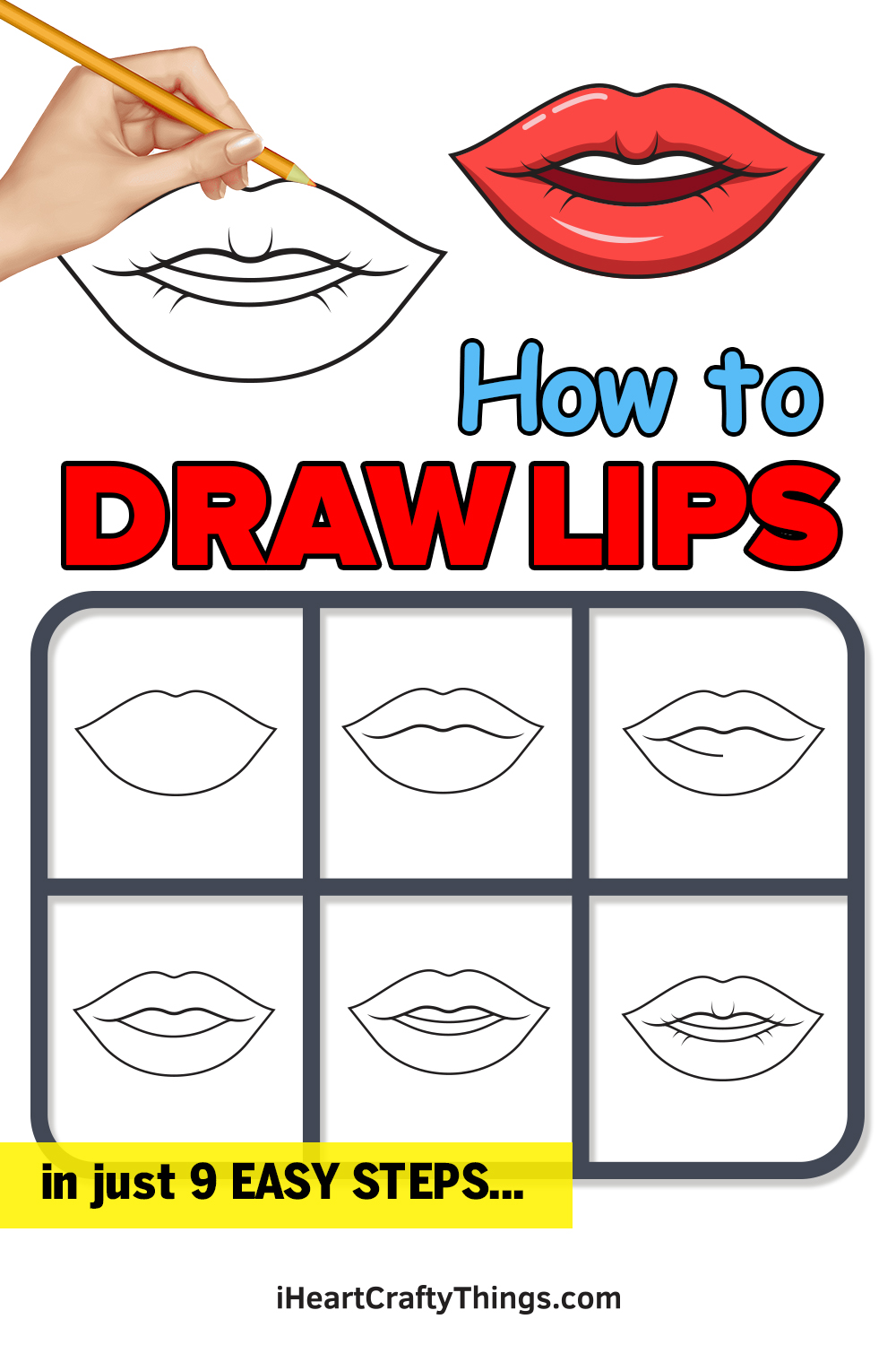 how to draw lips in 9 easy steps