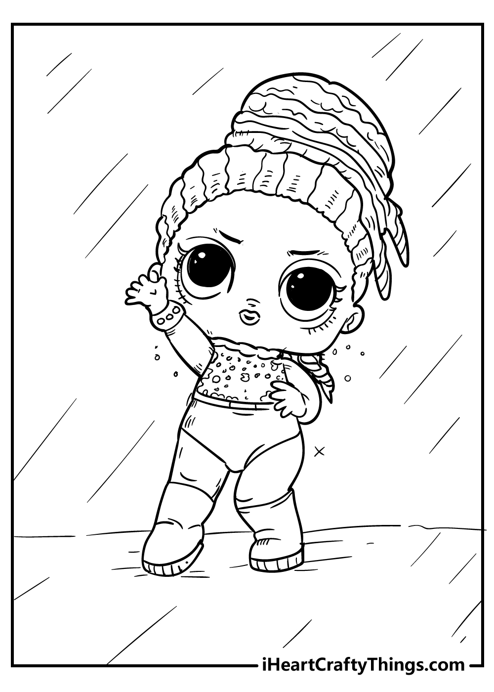 LOL doll coloring pages free printable