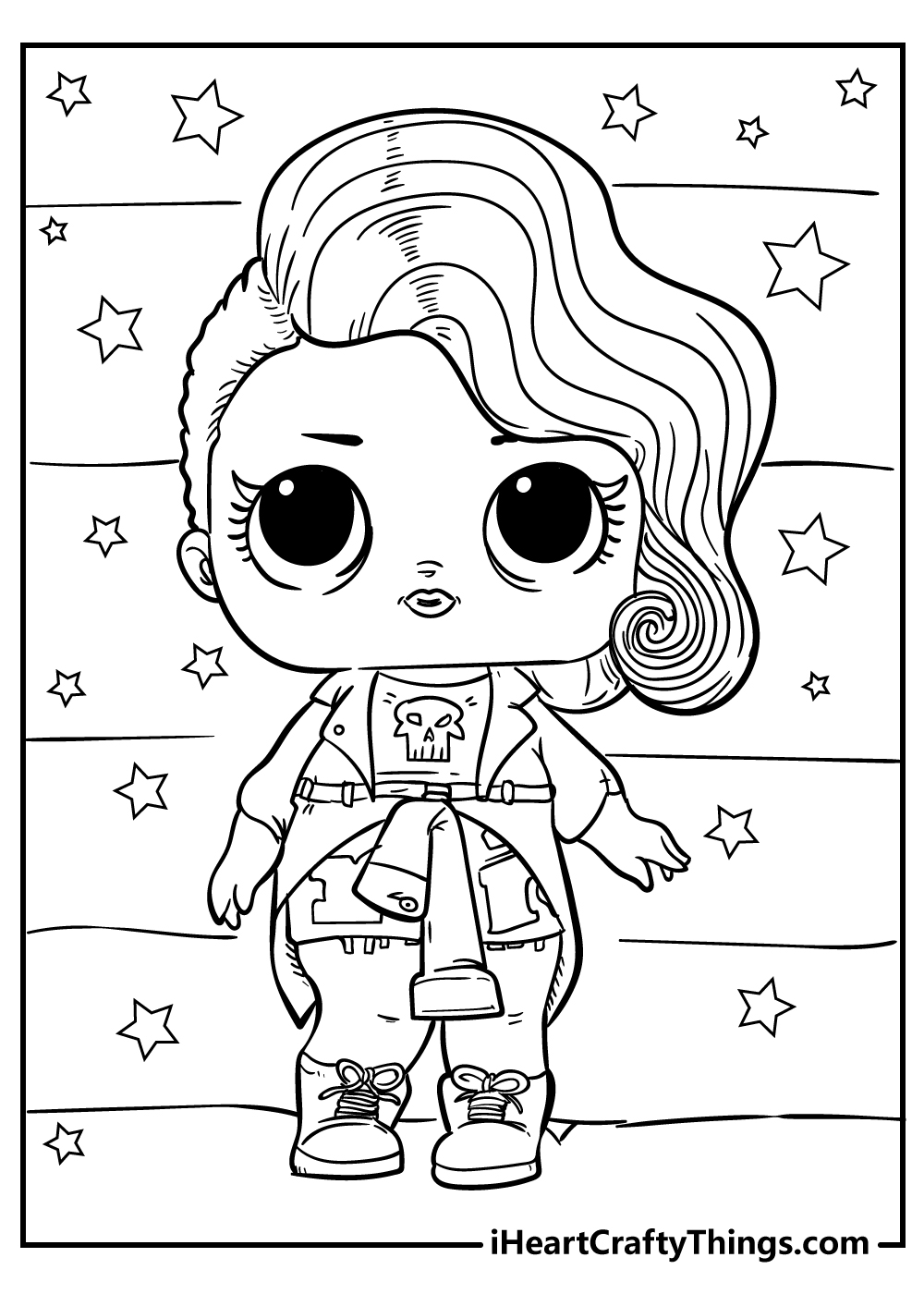 omg lol doll colouring pages free download