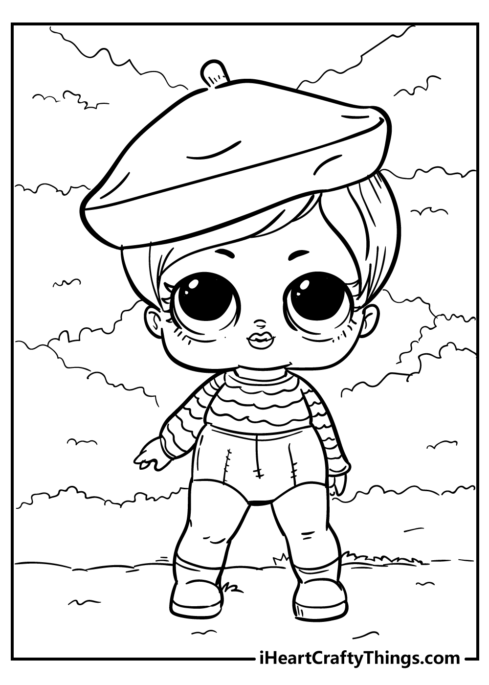 baby lol doll coloring pages