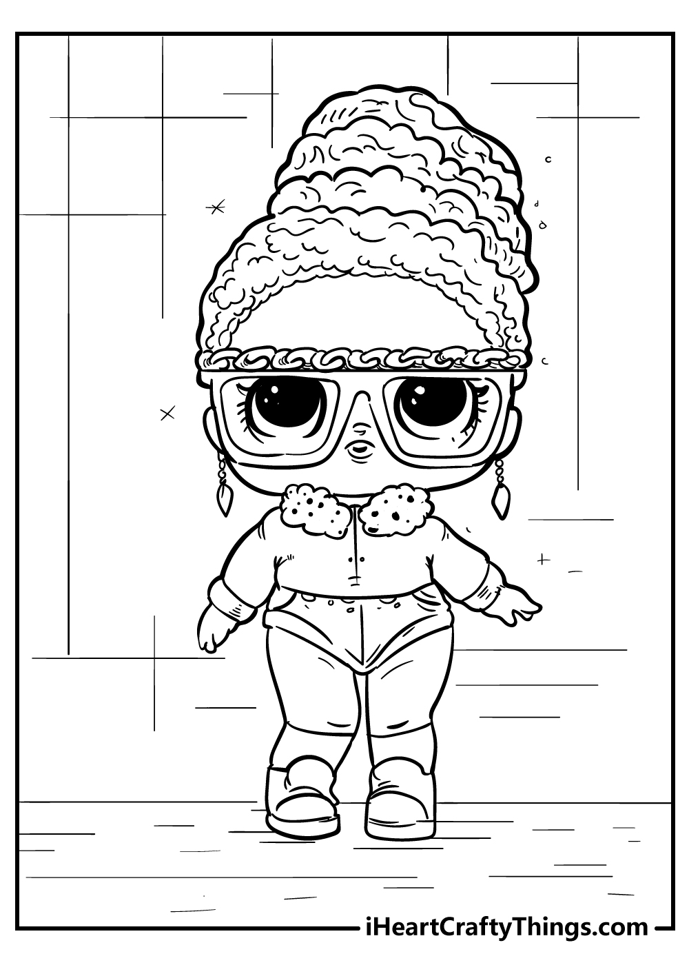 LOL doll coloring pages free download