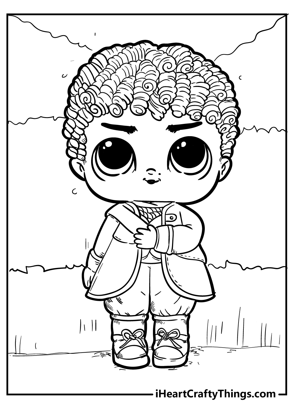new lol doll coloring pages printable