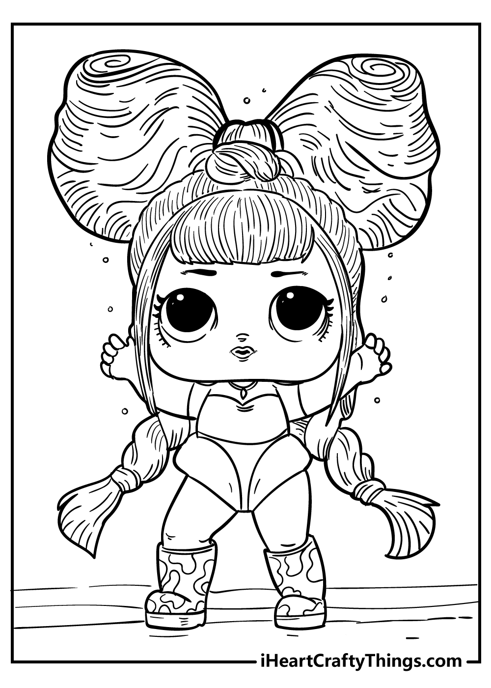 LOL doll coloring pages for kids free print out