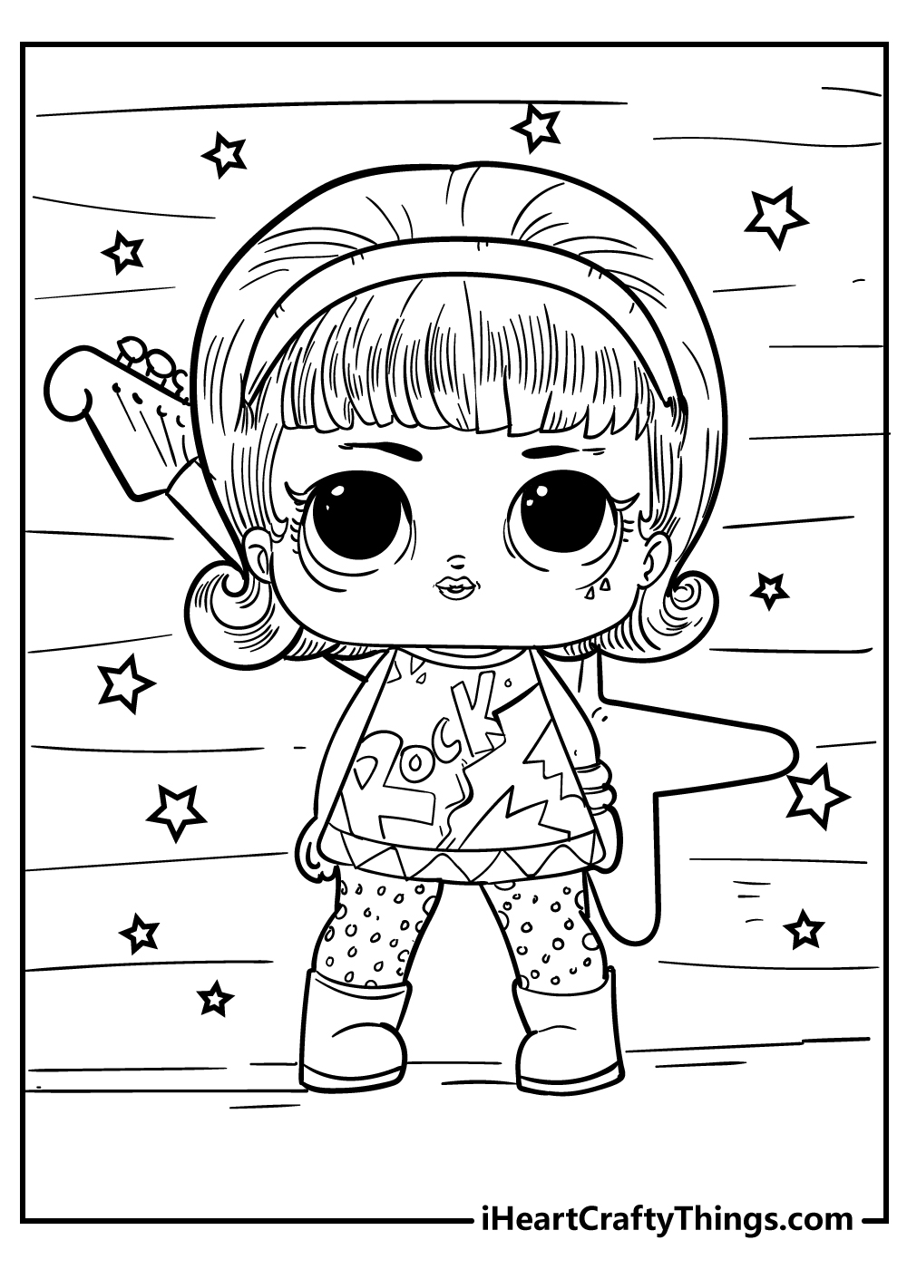 LOL doll coloring pages for toddlers free printable
