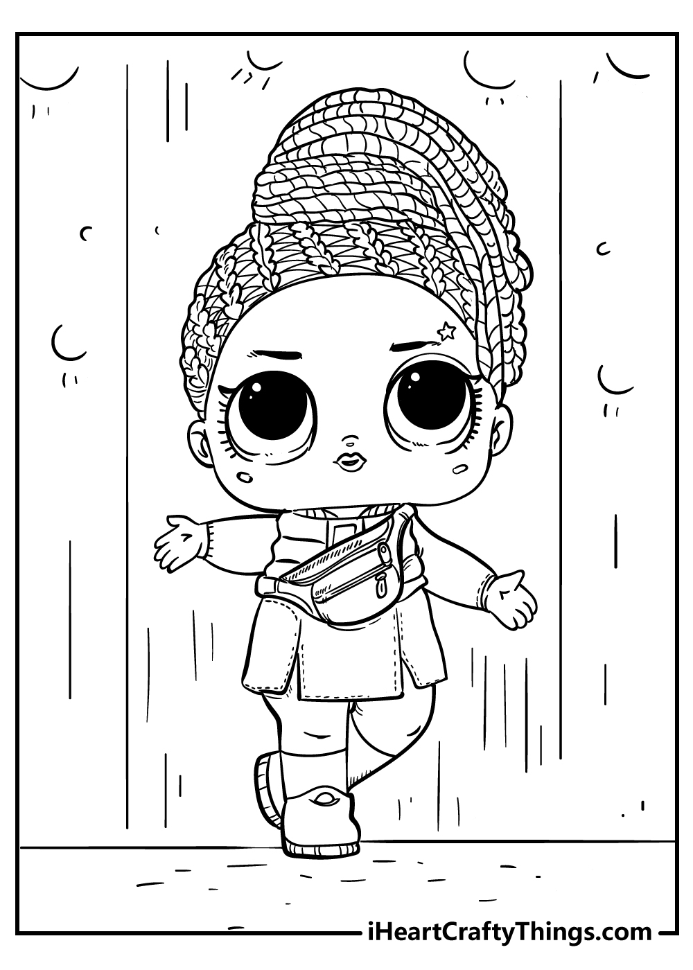 free LOL doll coloring pages for adults