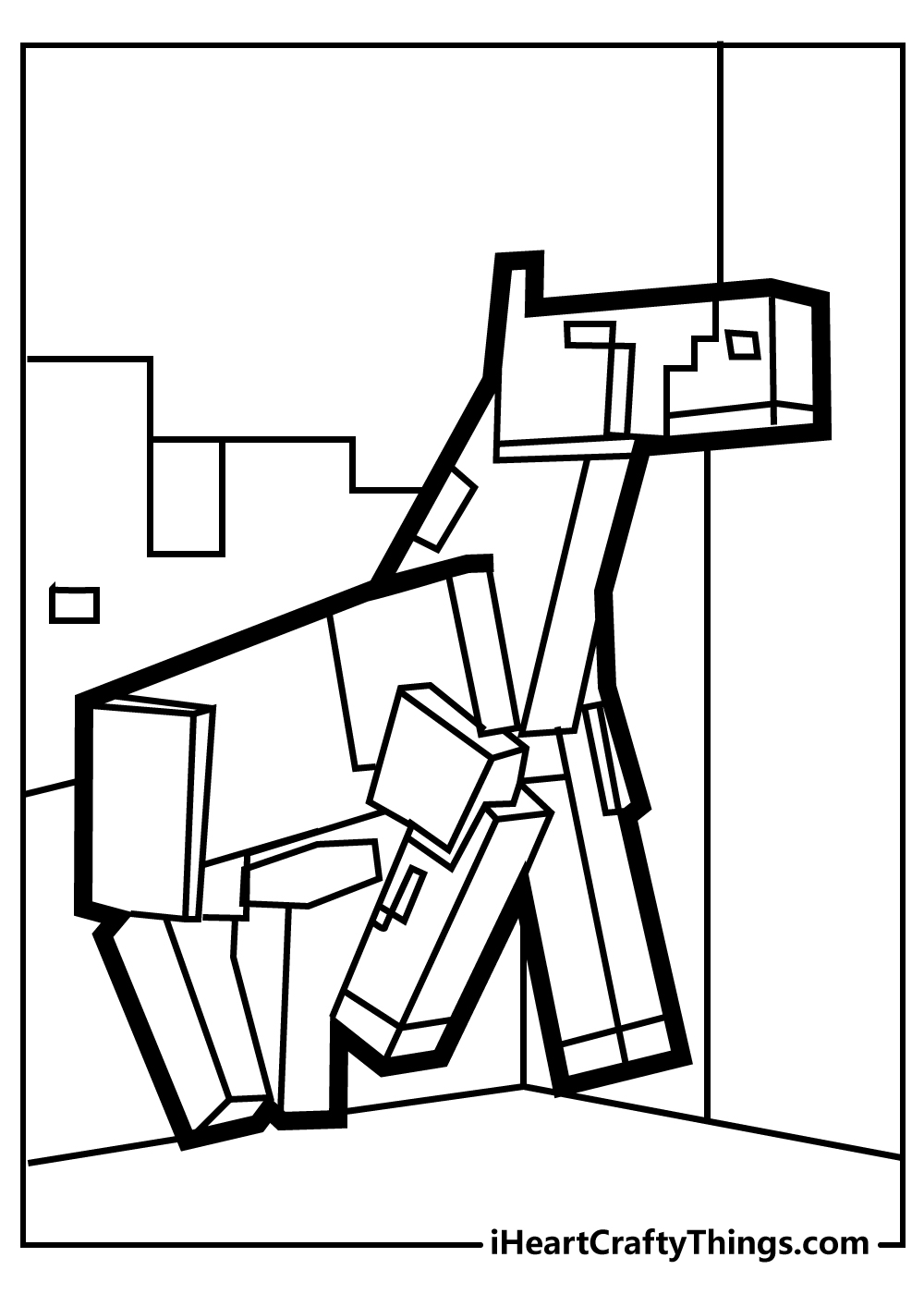 minecraft printable colouring pages