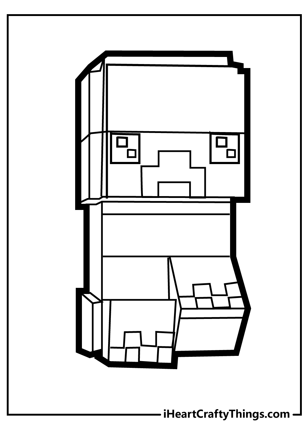 minecraft coloring pages free pdf download