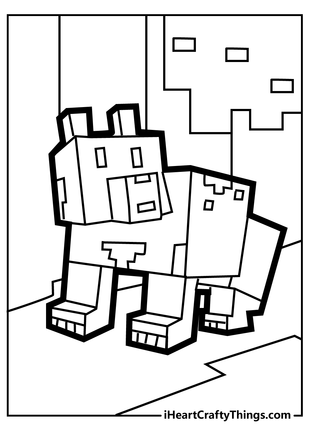 minecraft colouring pages for preschoolers