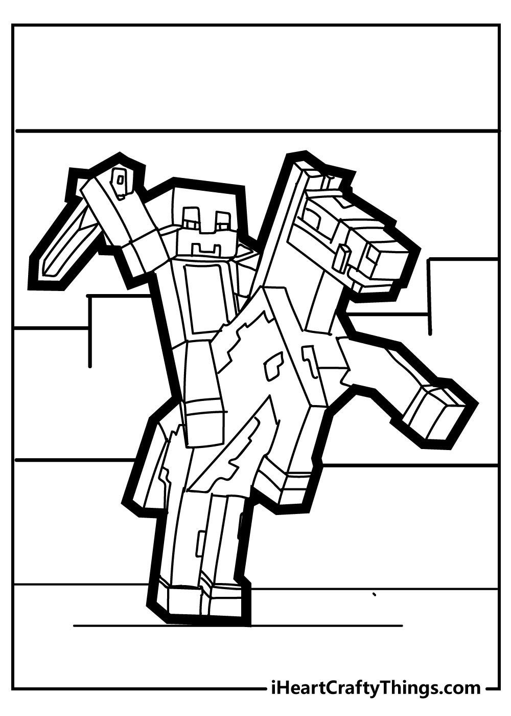 sword minecraft coloring pages free