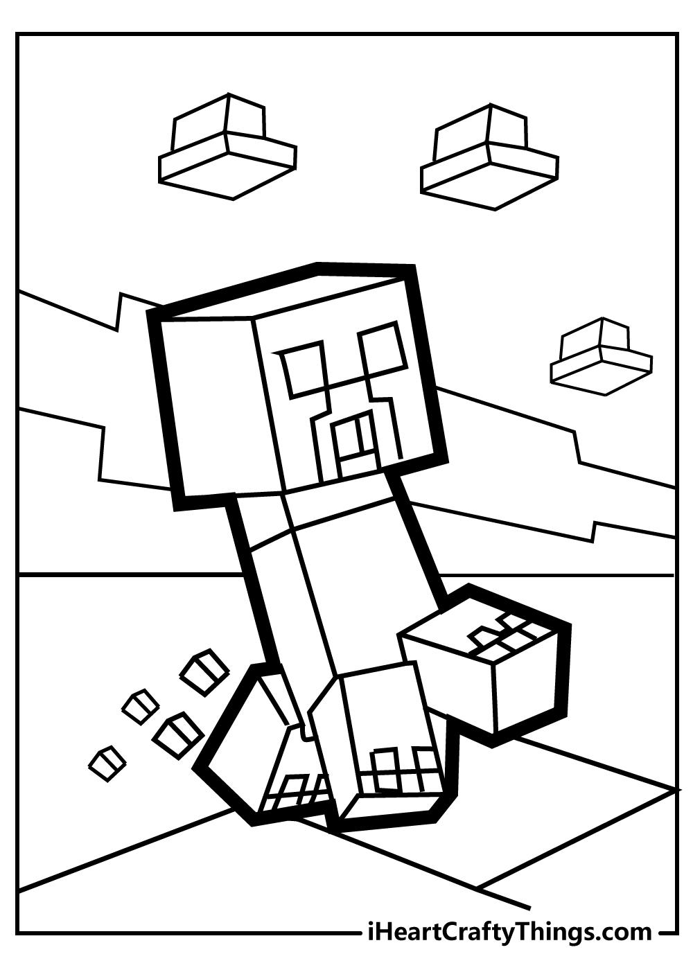 prestonplayz minecraft coloring page free