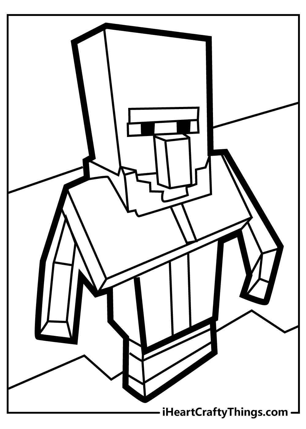 minecraft skeleton coloring pages free printable