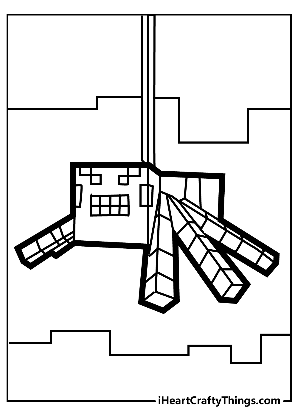 minecraft characters coloring pages free download