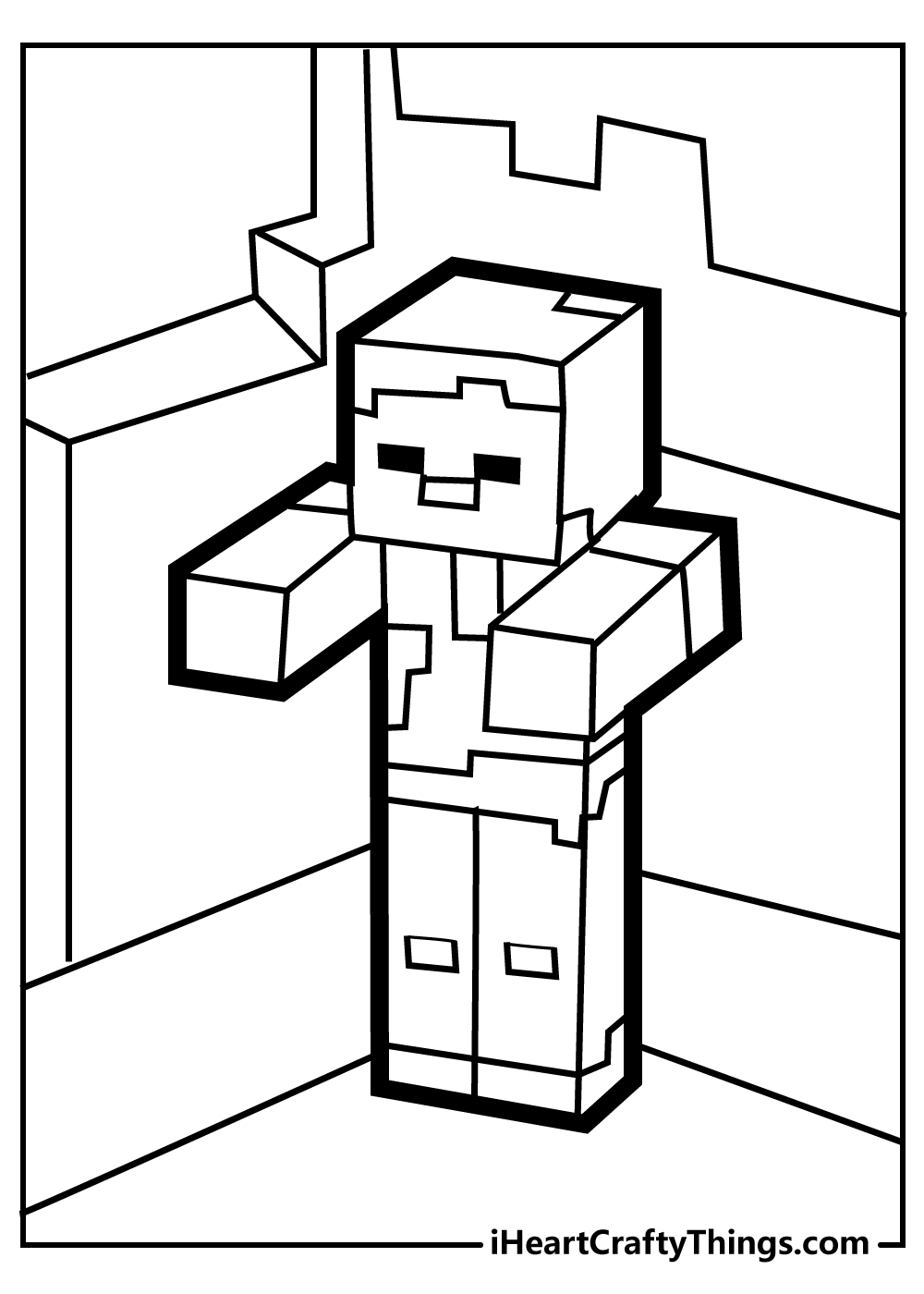 minecraft wolf coloring page free printable