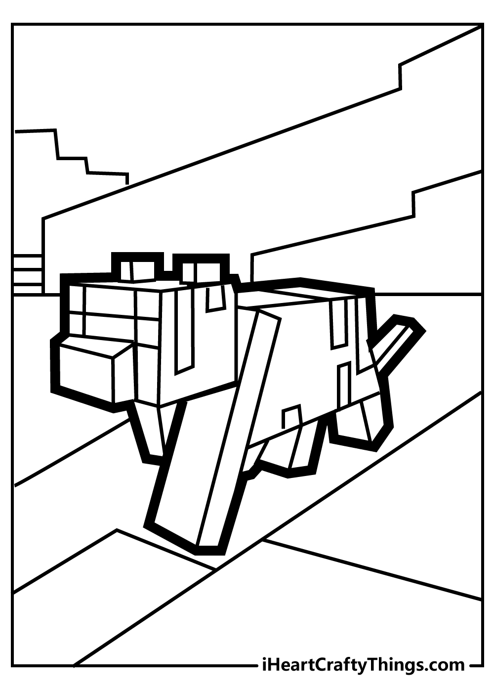 lego minecraft coloring pages