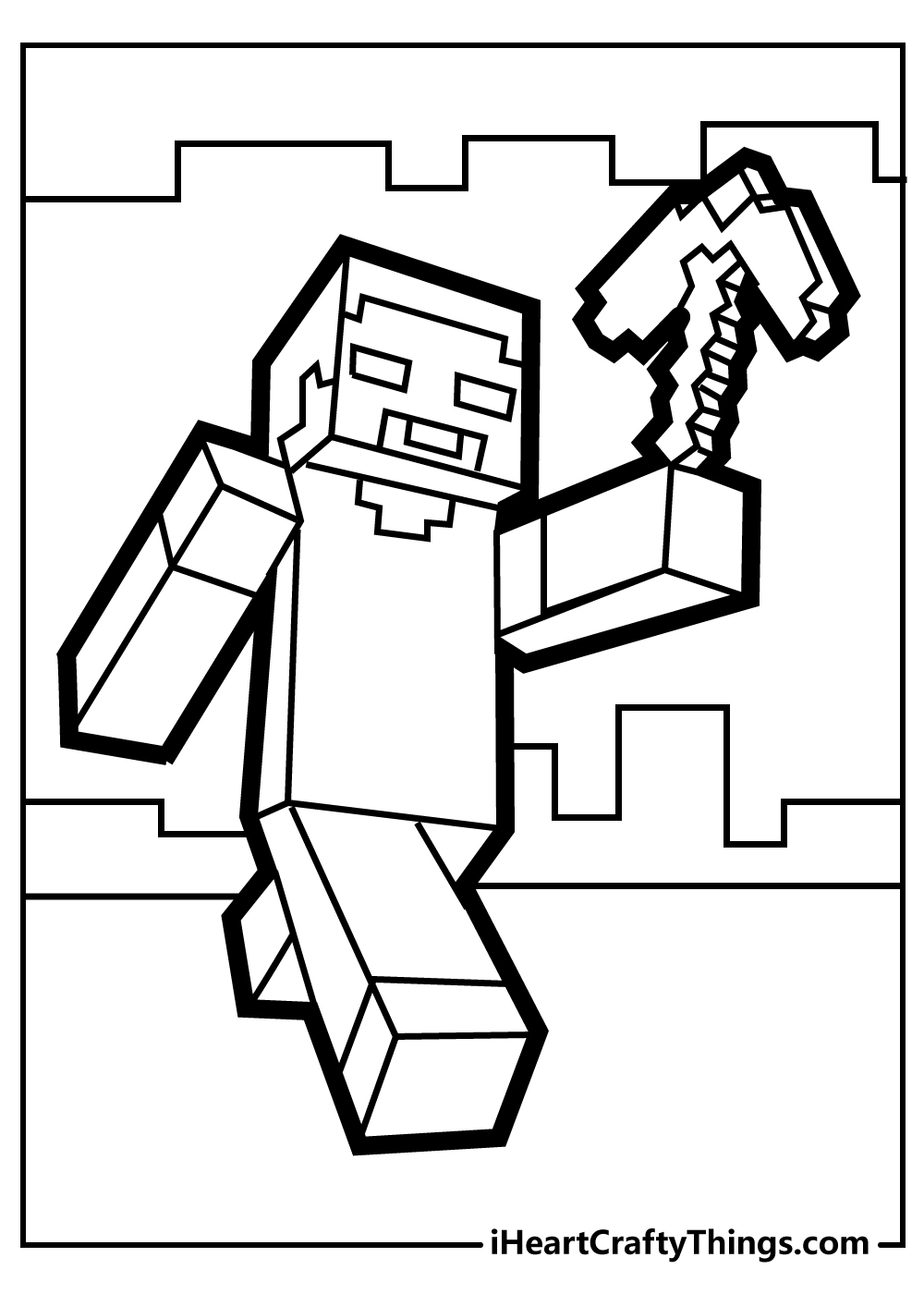 minecraft coloring sheets free printable