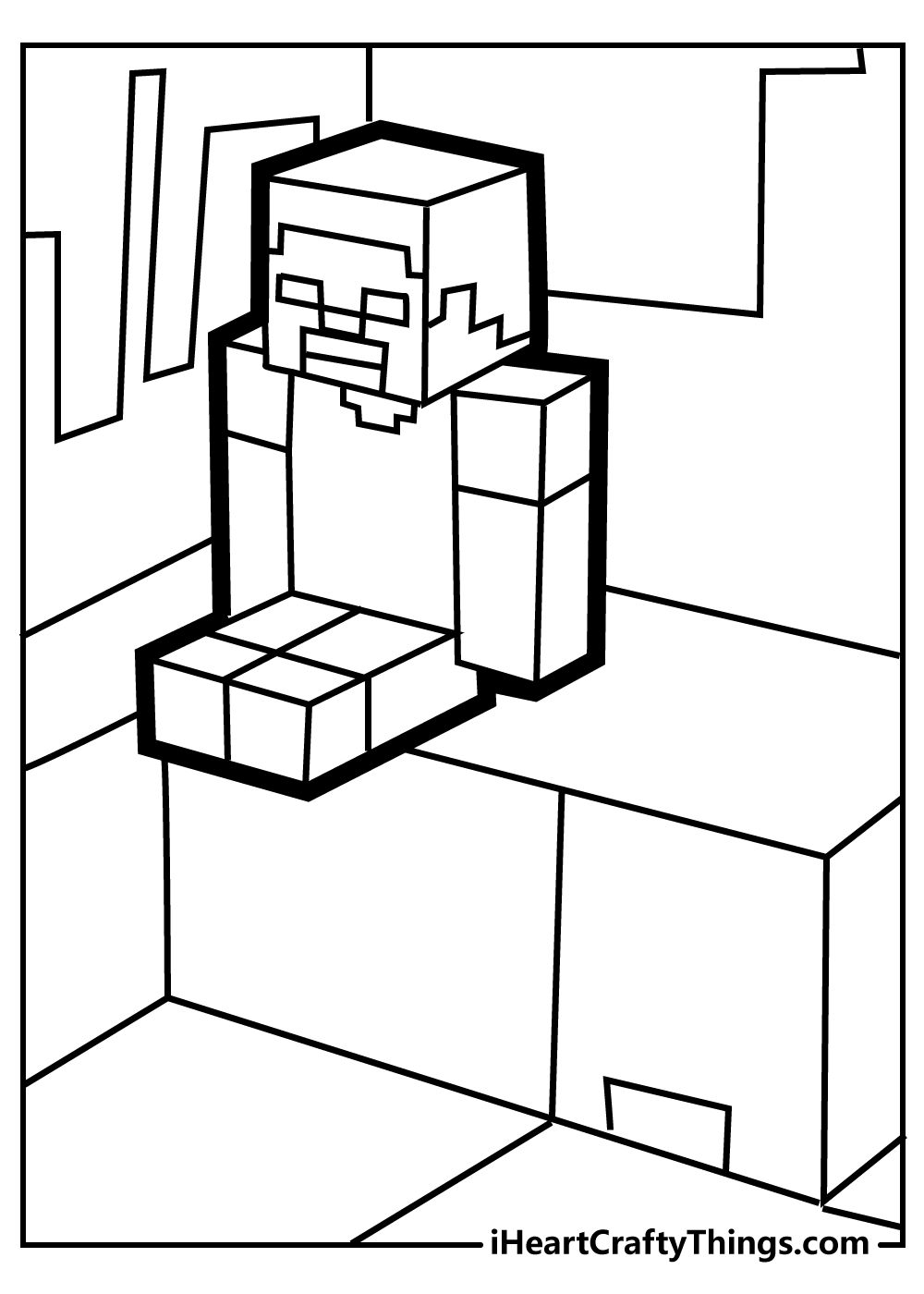 coloring pages of minecraft for kids