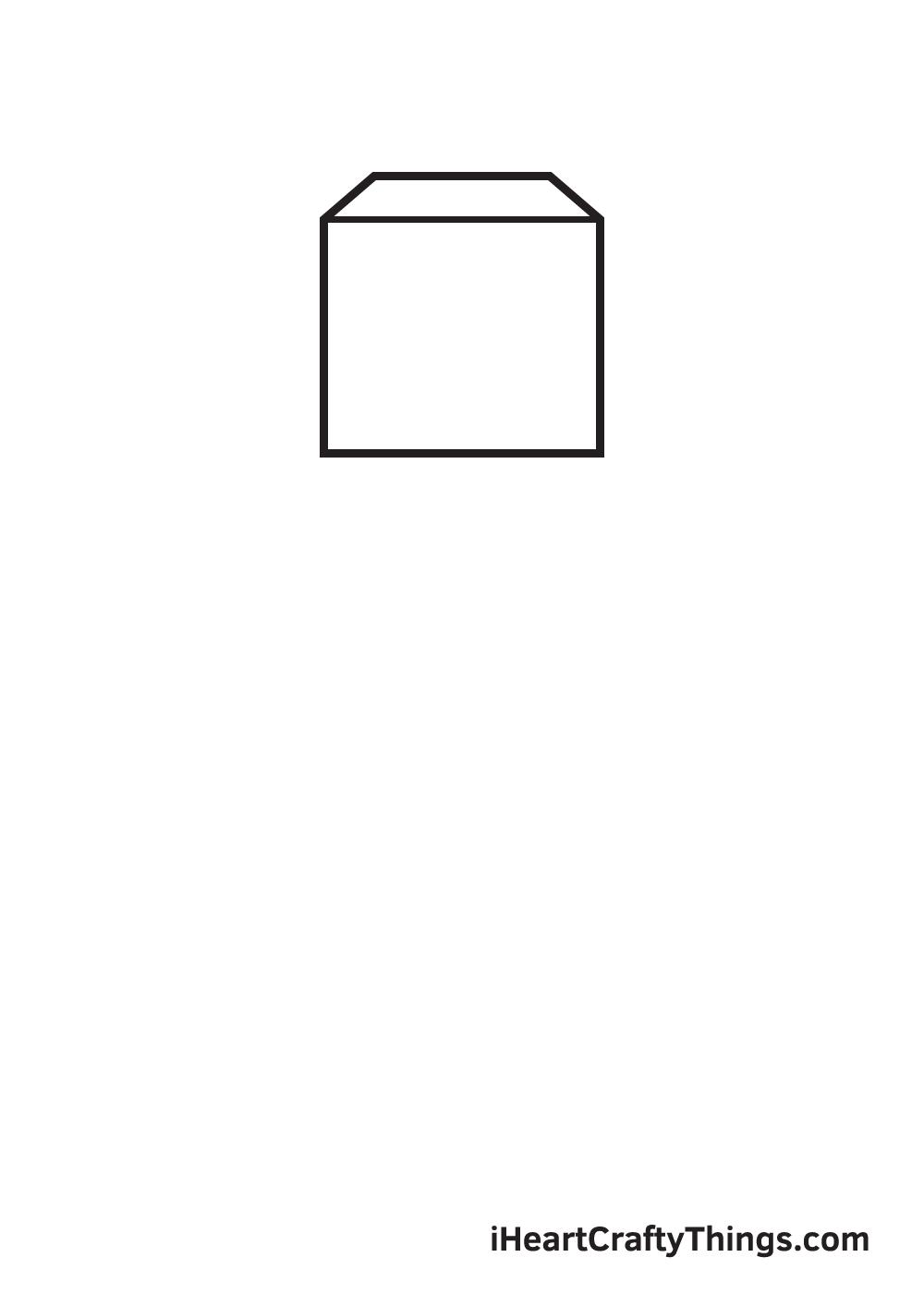 minecraft drawing step 1