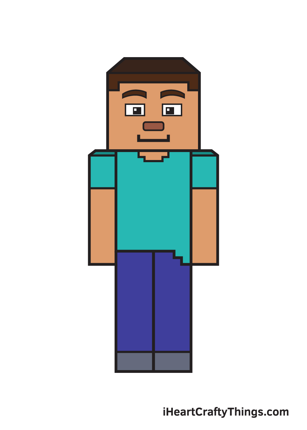 minecraft drawing 9 steps