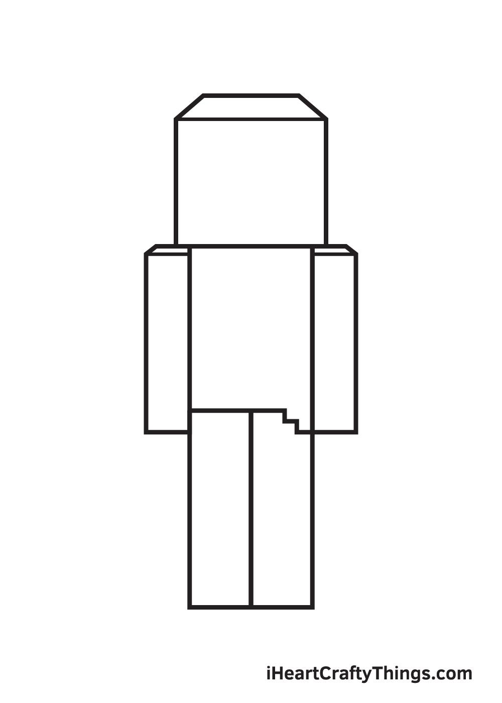 minecraft drawing step 4