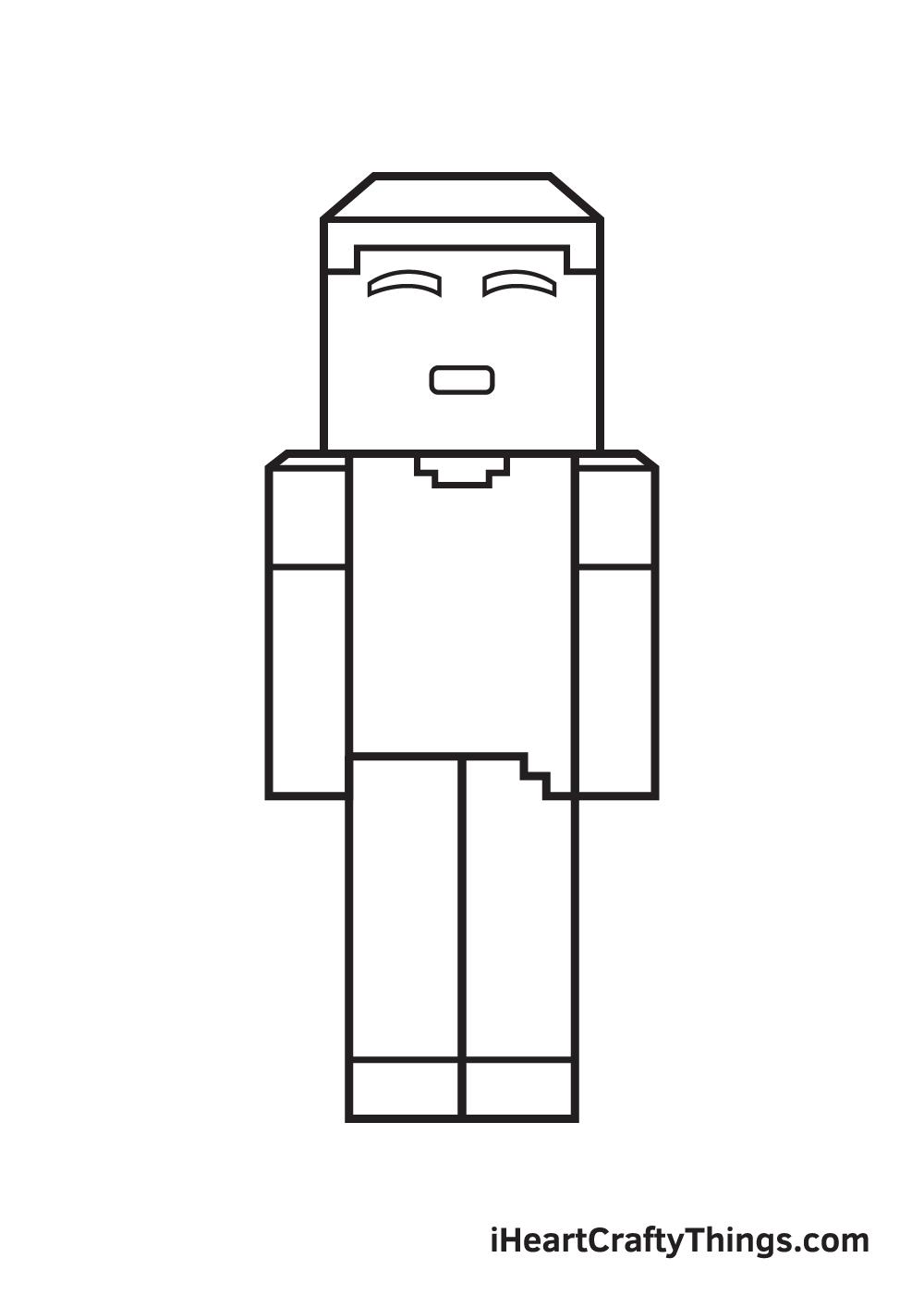 minecraft drawing step 8