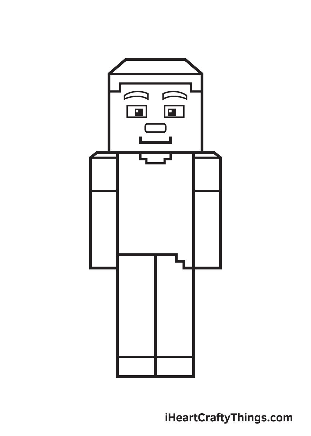 minecraft drawing step 9