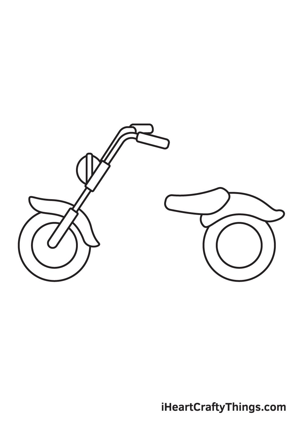 motorcycle drawing step 4