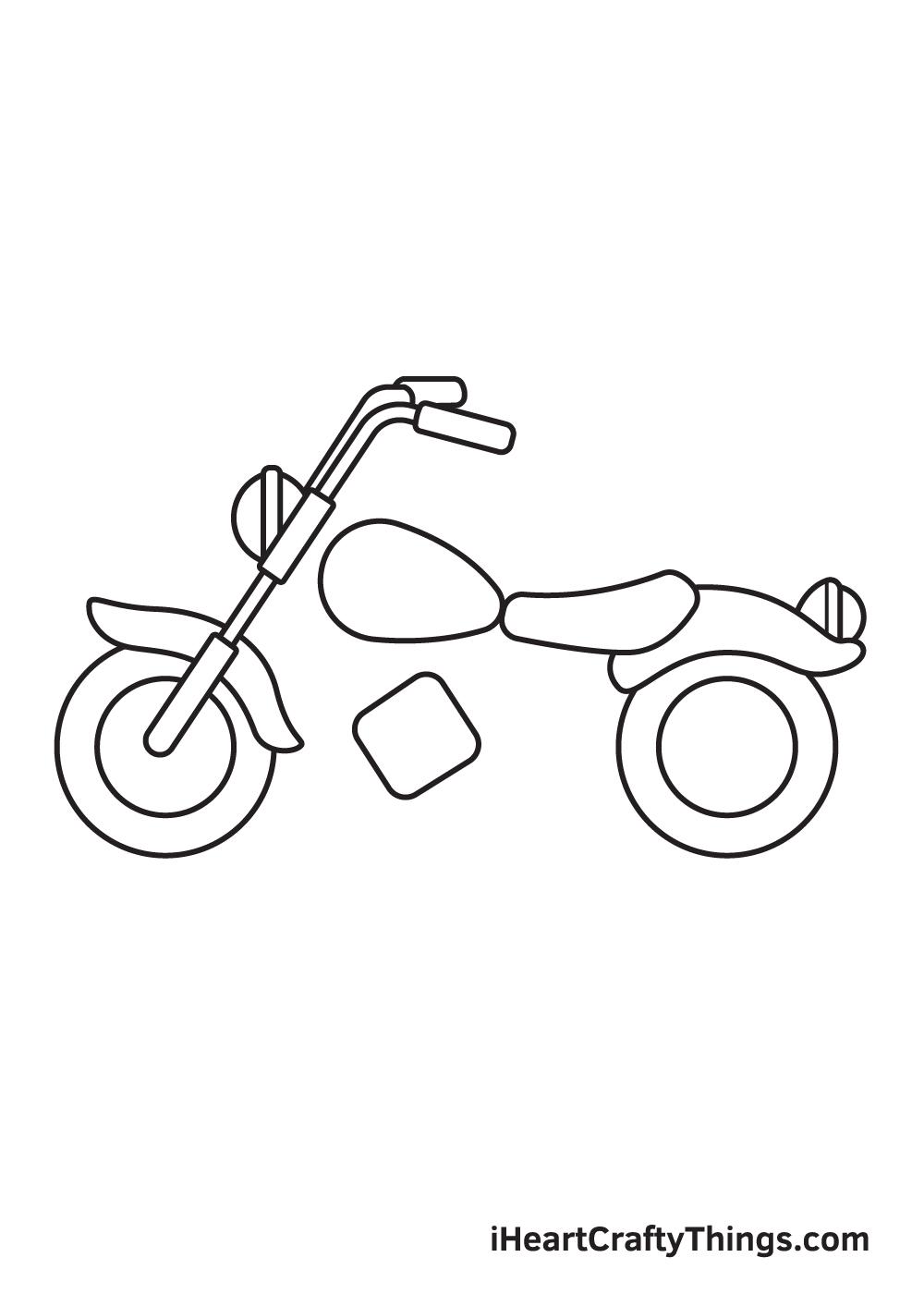 motorcycle drawing step 6