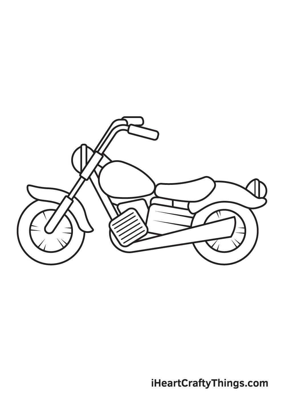 motorcycle drawing step 9