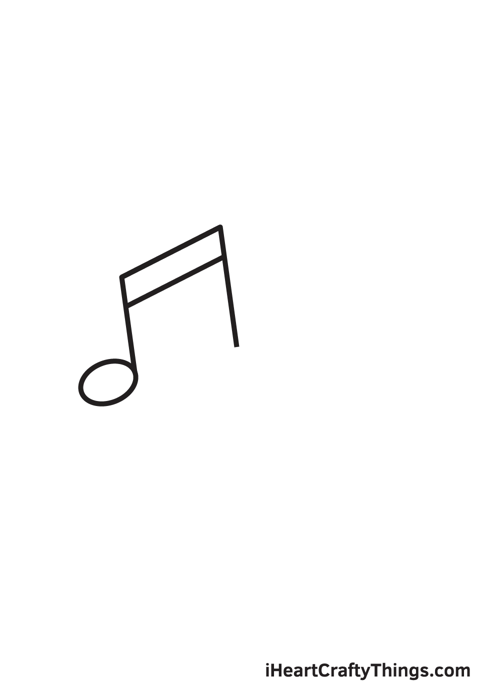 music notes drawing step 2