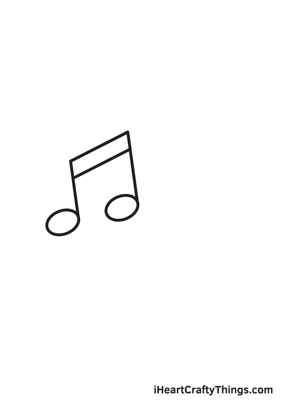 music notes drawing step 3