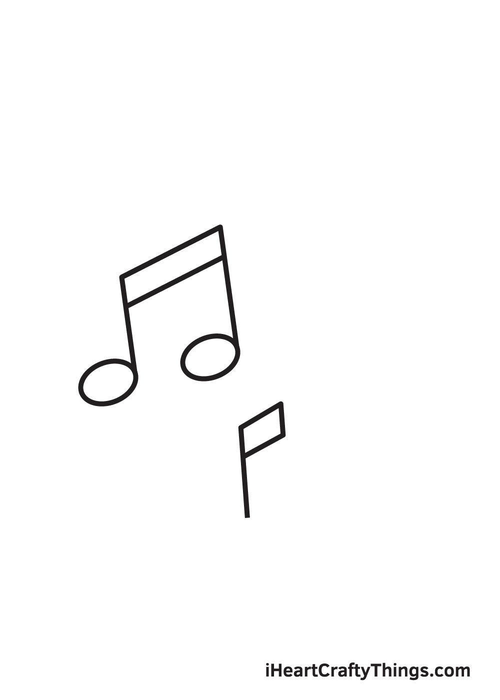 music notes drawing step 4