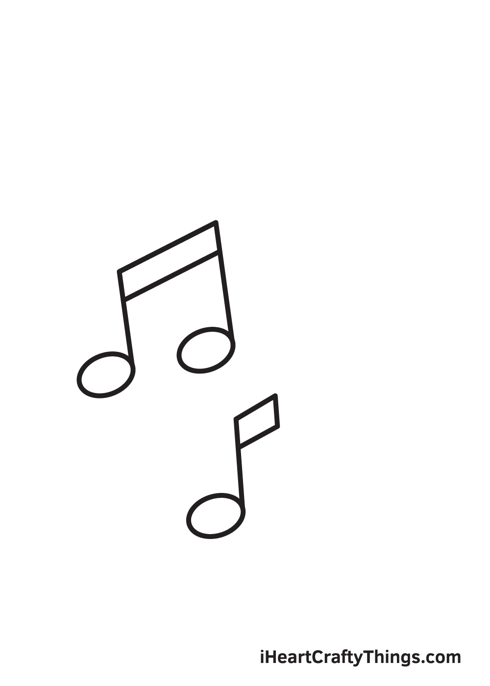 music notes drawing step 5