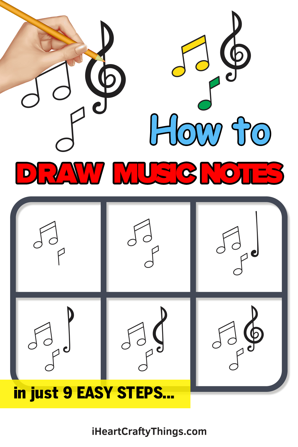 how to draw music notes in 9 easy steps