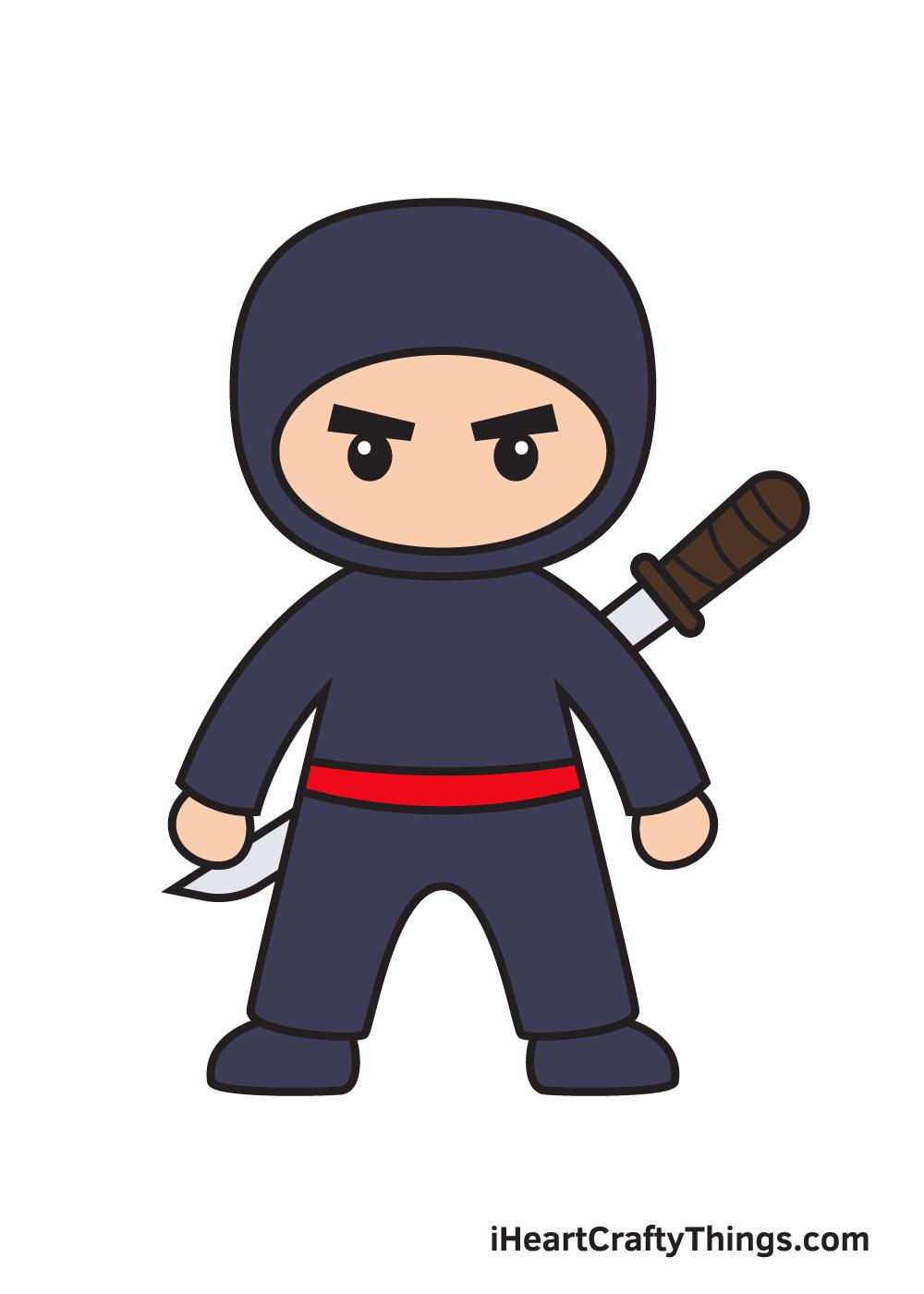 ninja drawing 9 steps
