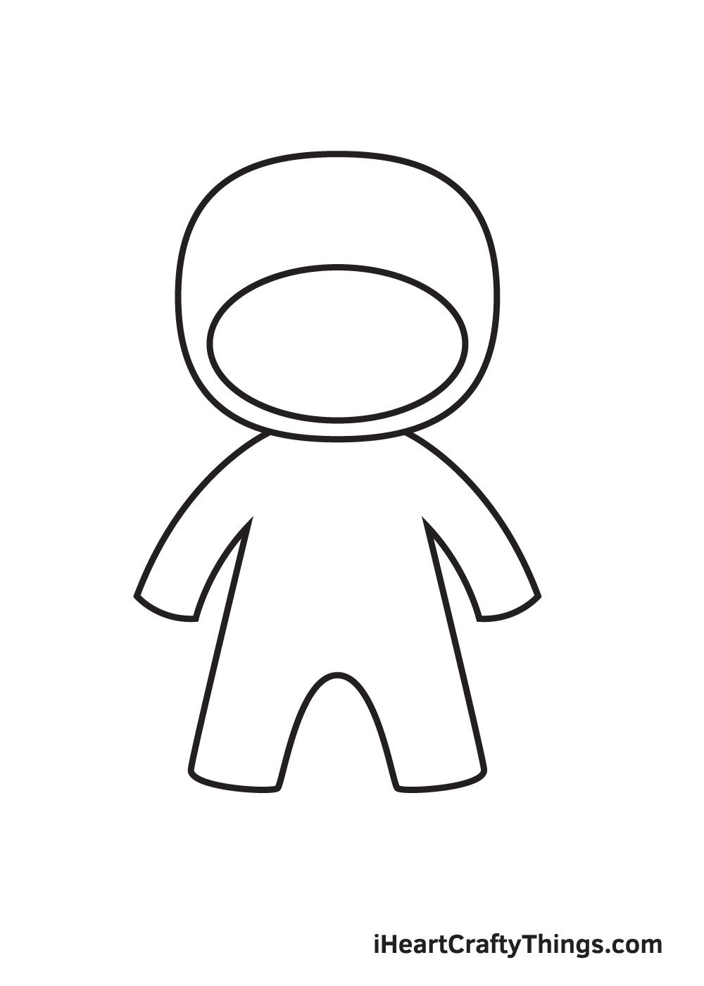 ninja drawing step 3