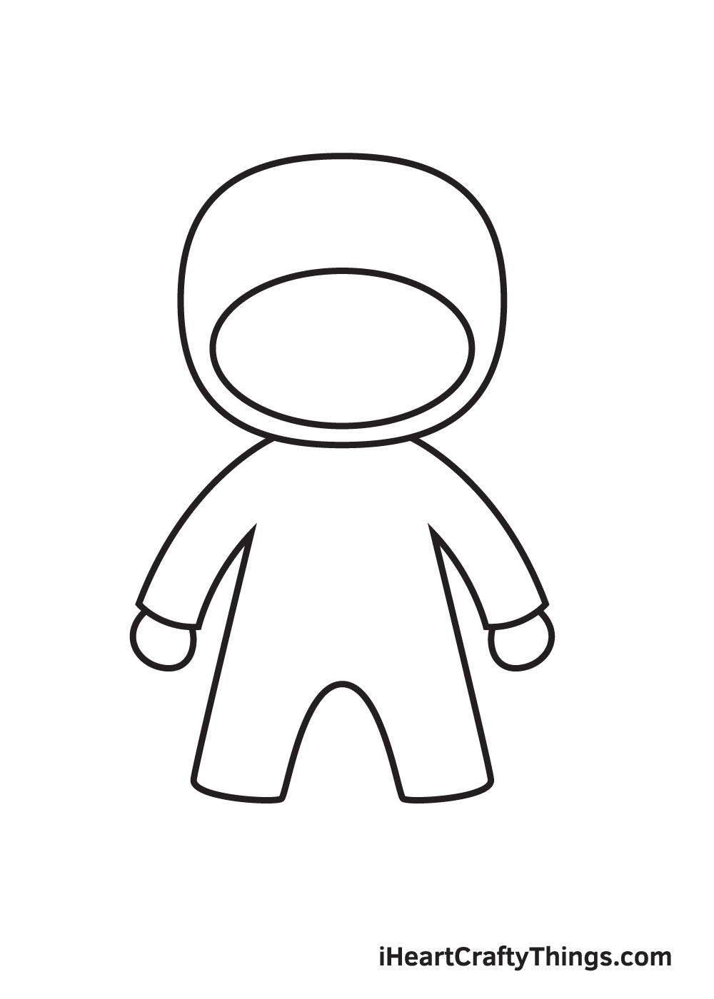 ninja drawing step 4