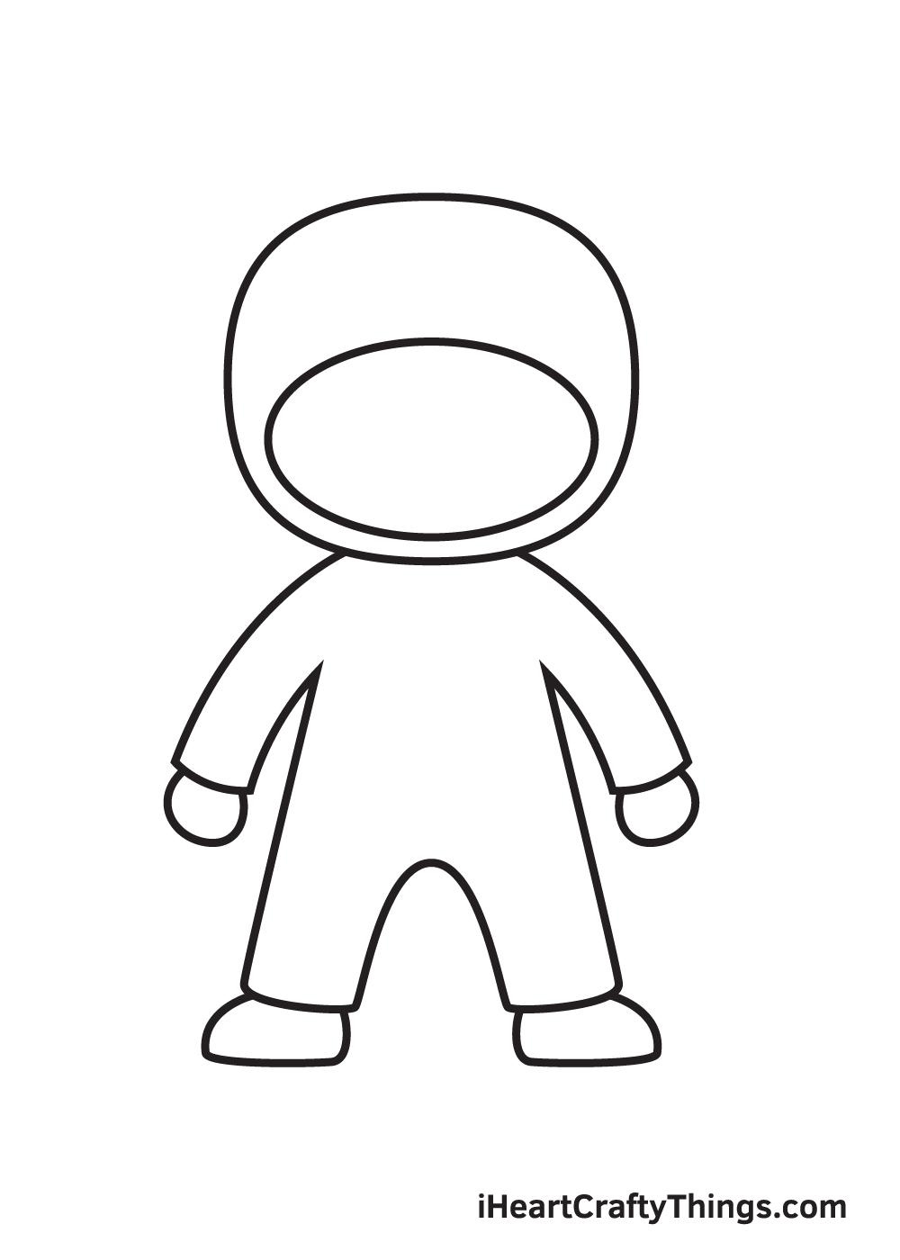 ninja drawing step 5