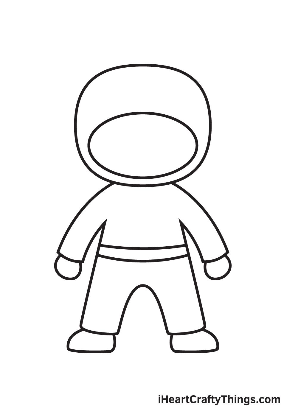 ninja drawing step 6