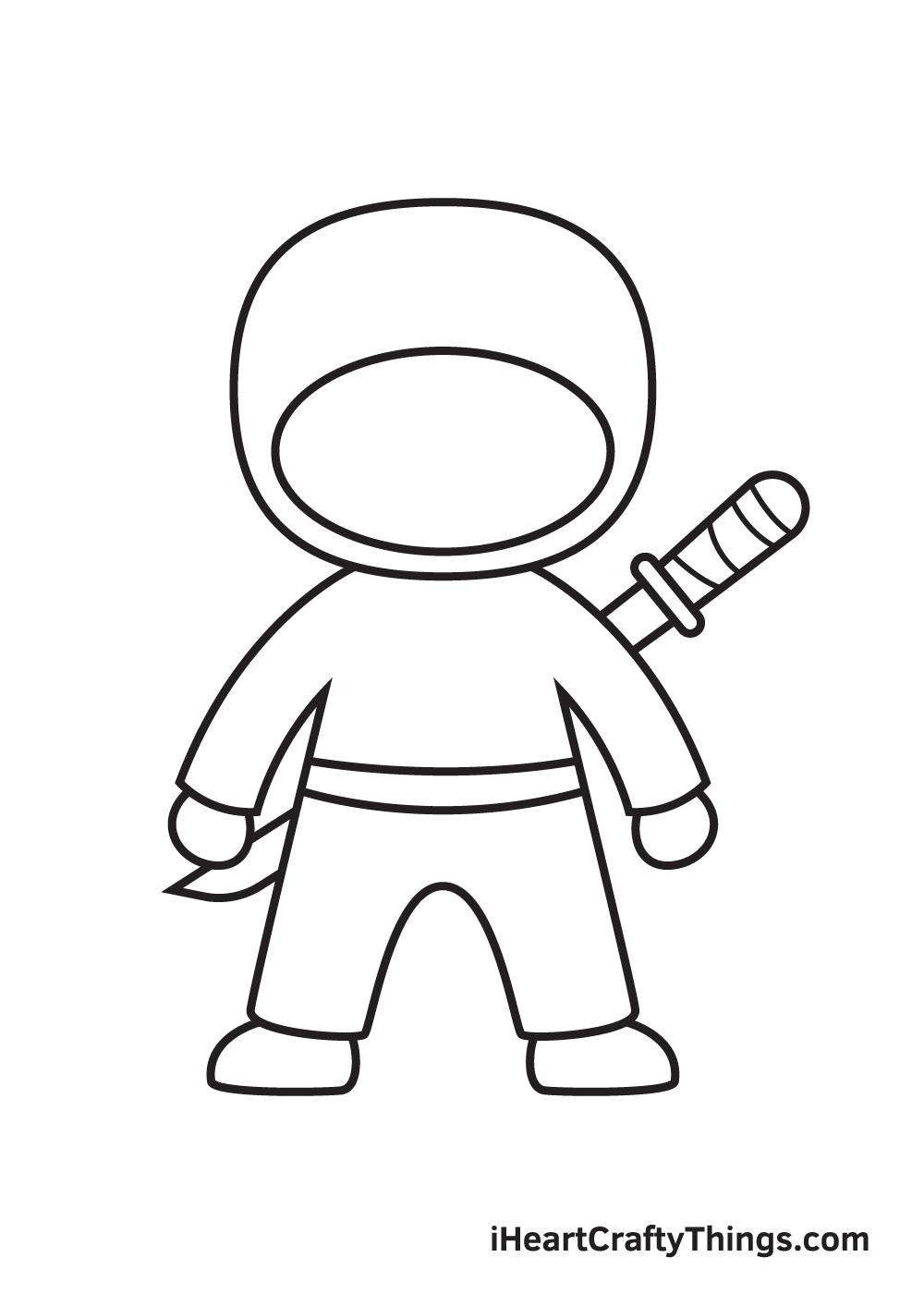 ninja drawing step 7