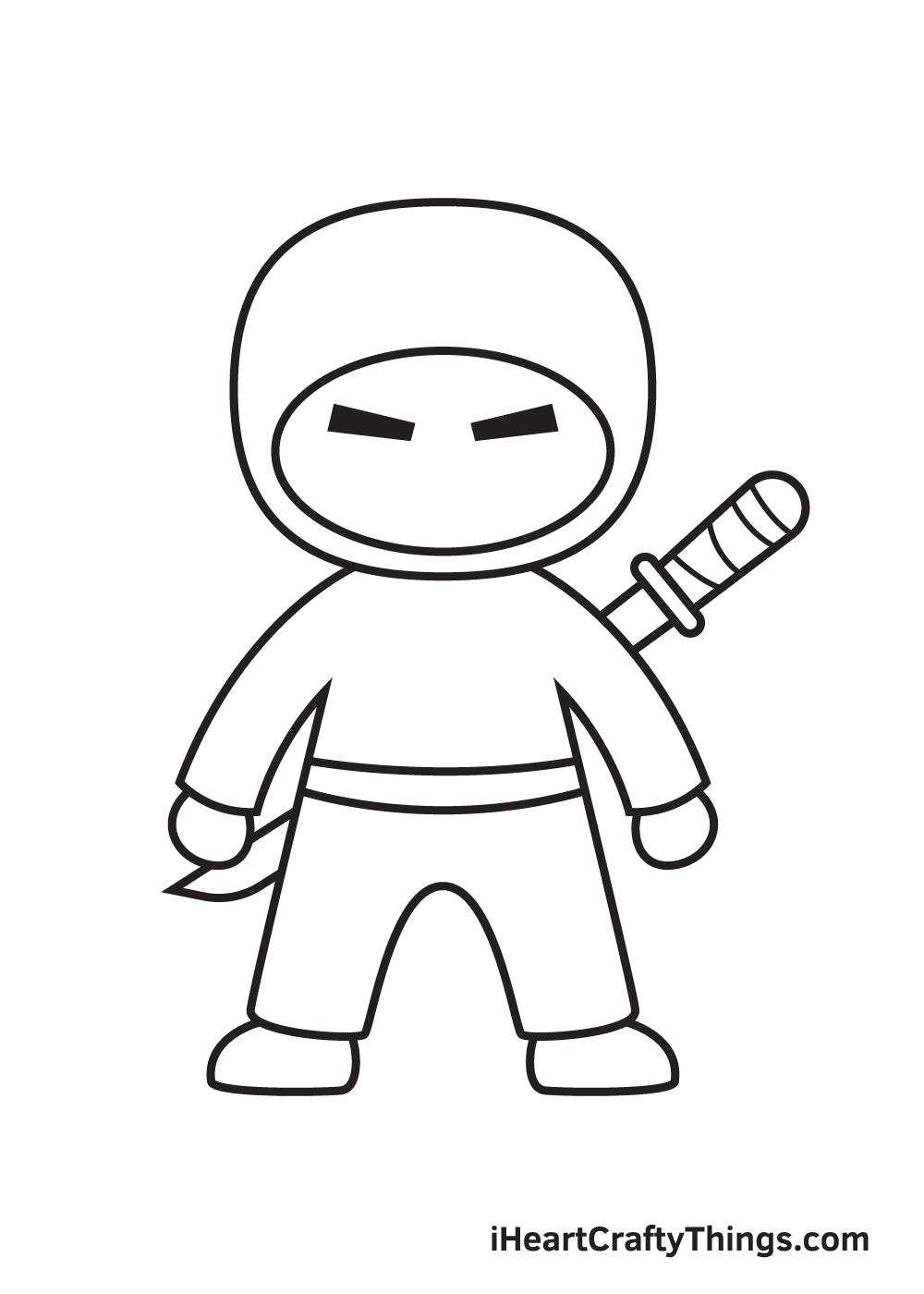 ninja drawing step 8