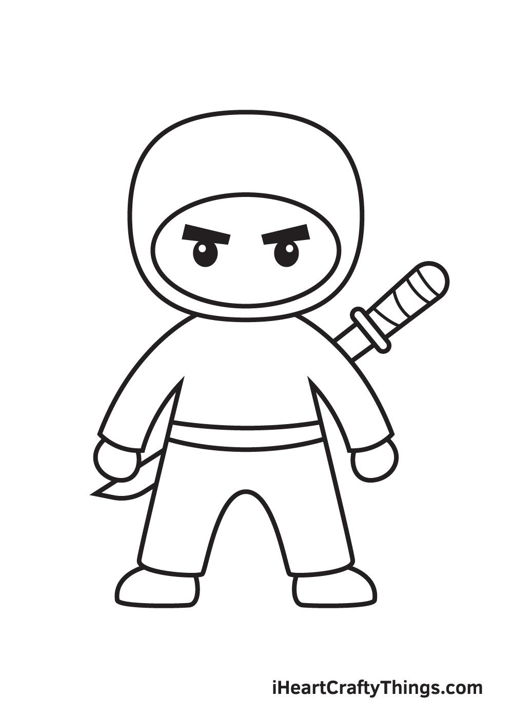 ninja drawing step 9