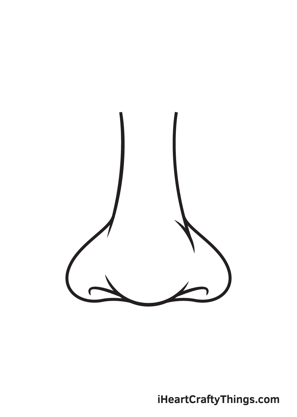 nose drawing step 8