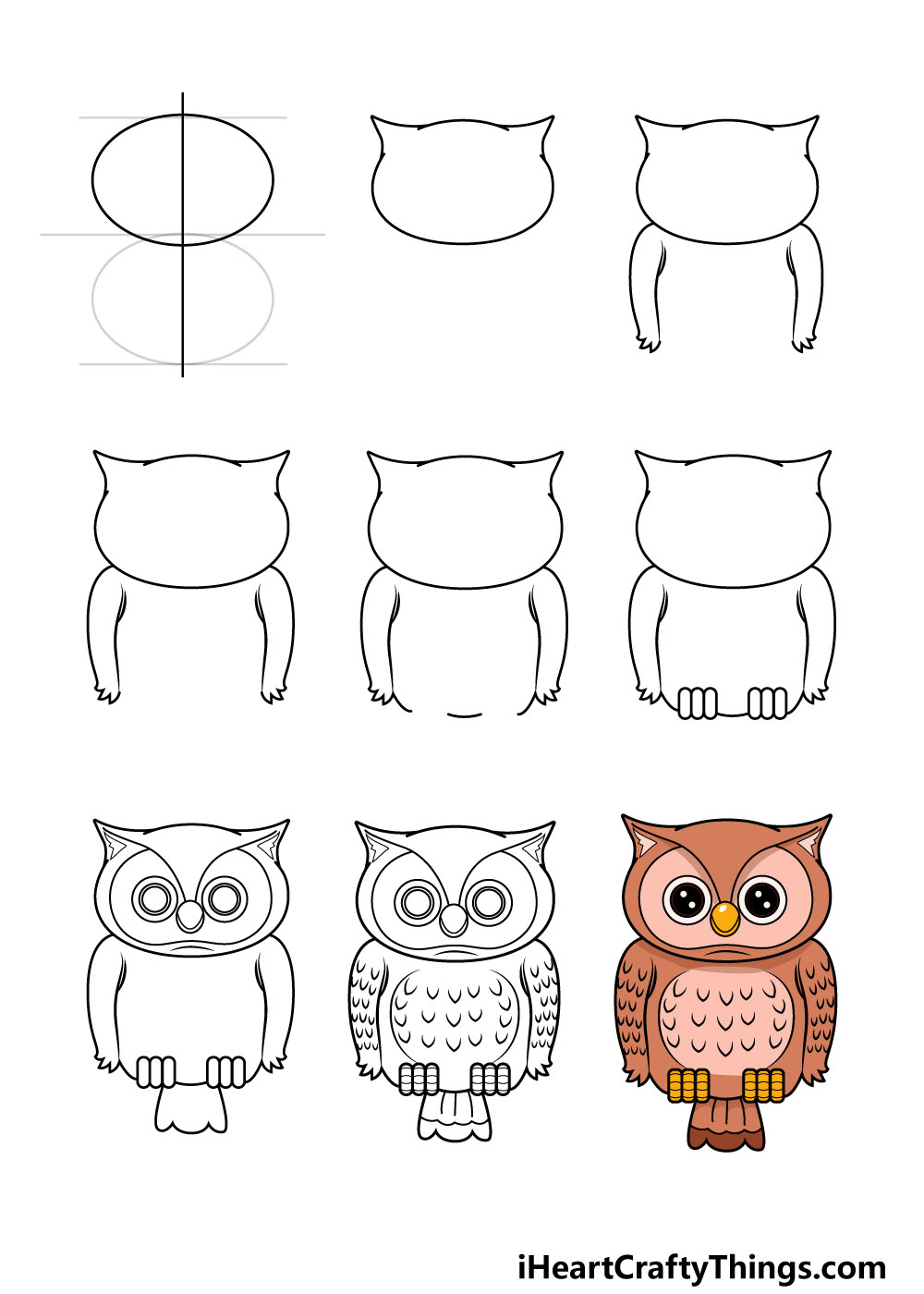 Owl Drawing   How To Draw An Owl Step By Step
