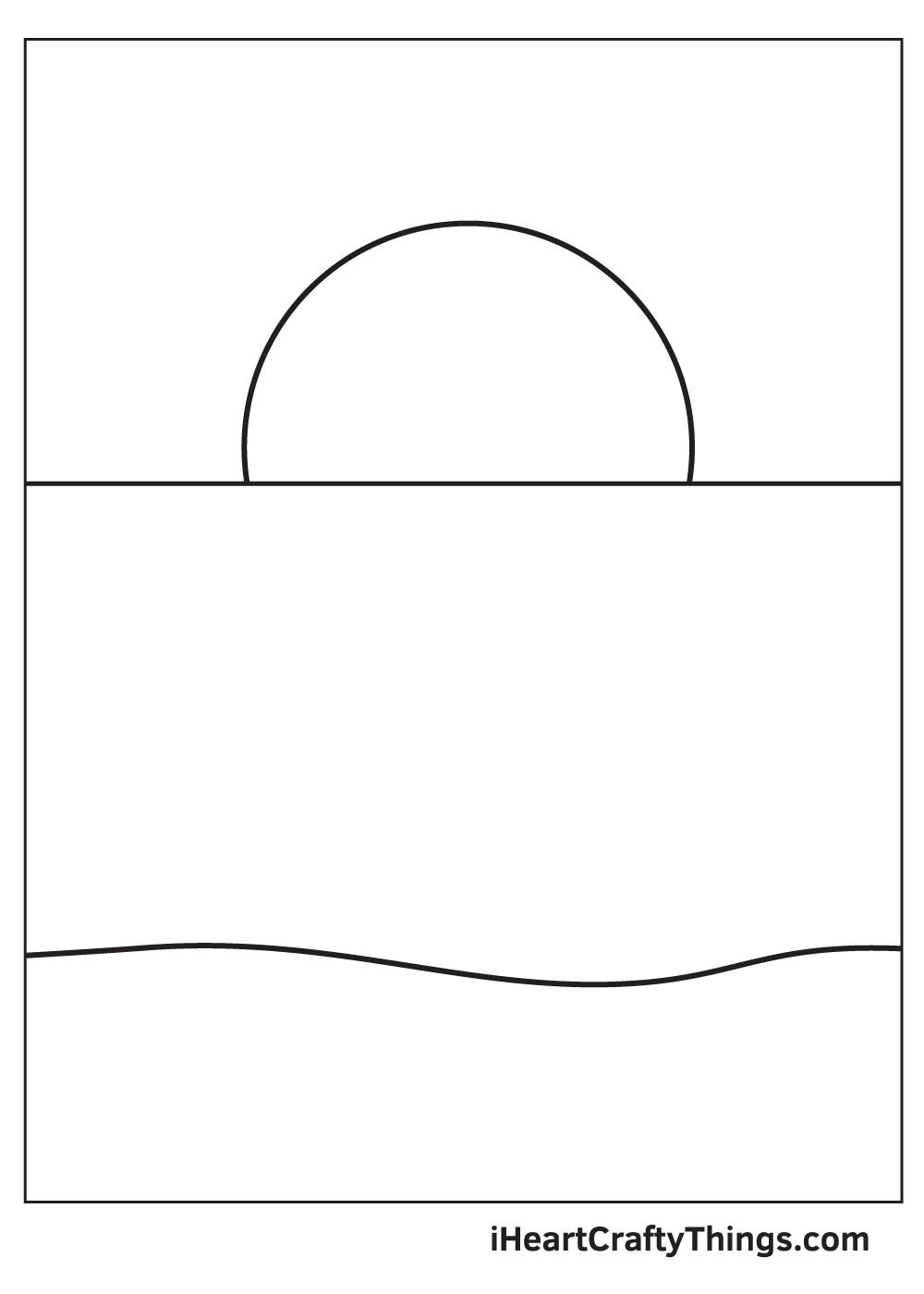 ocean drawing step 3