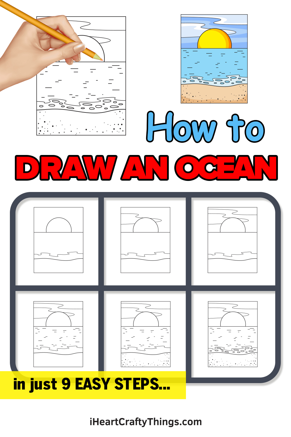 how to draw an ocean in 9 easy steps